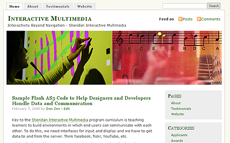 Interactive Multimedia Blog