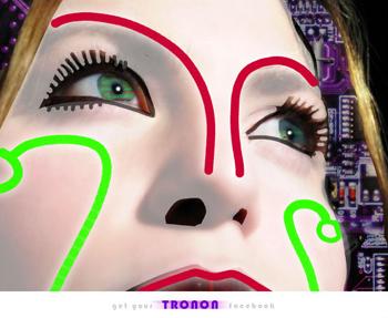 Tronon - cyber drawings like Tron
