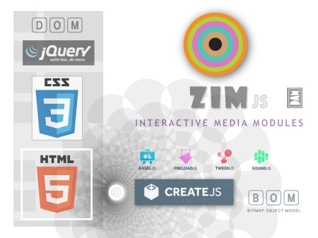 ZIM js - free JavaScript Library of Interactive Media Modules
